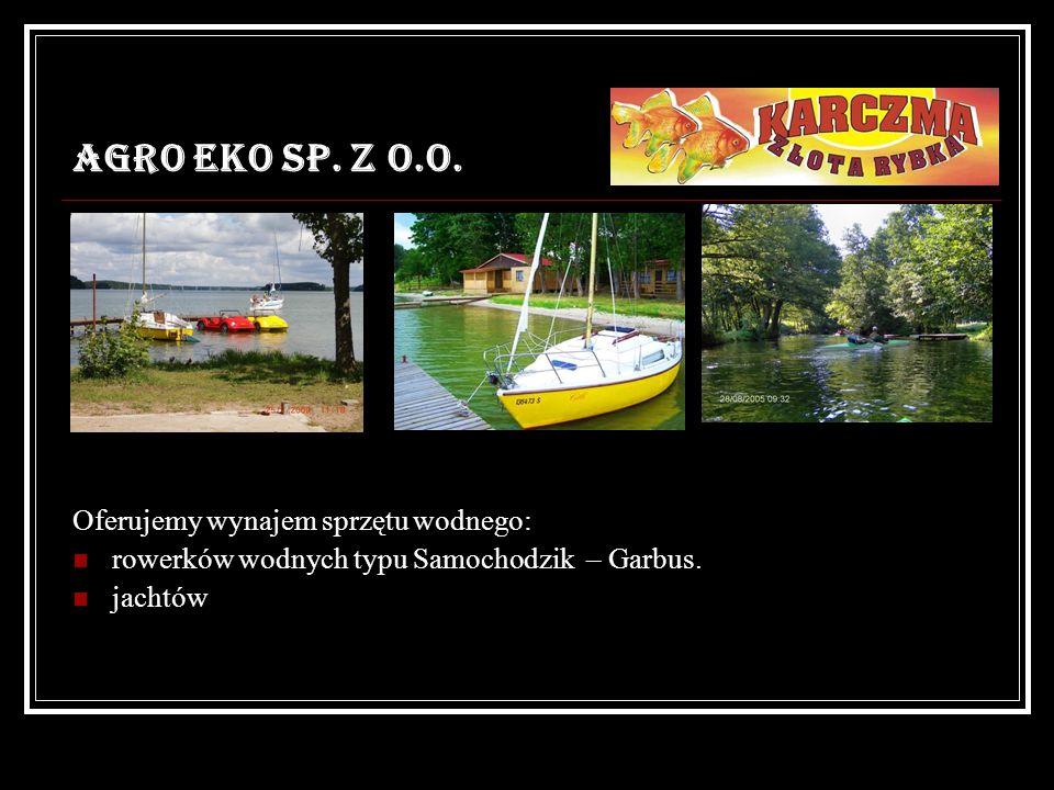 AGRO EKO SP. Z O.O. Oferujemy wynajem sprzętu wodnego: rowerków wodnych typu Samochodzik – Garbus. jachtów