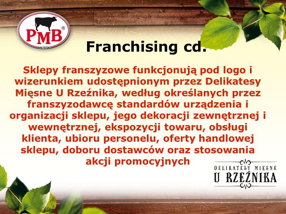 Sklepy franszyzowe funkcjonują pod logo i wizerunkiem udostępnionym przez Delikatesy Mięsne U Rzeźnika, według określanych przez franszyzodawcę standa