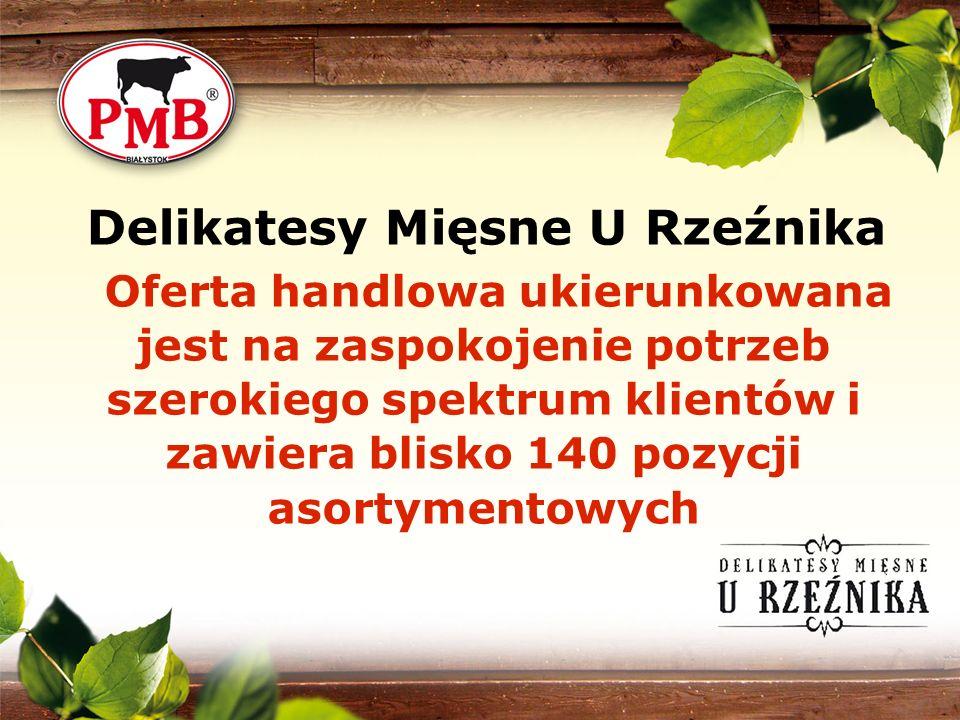 Delikatesy Mięsne U Rzeźnika Oferta handlowa ukierunkowana jest na zaspokojenie potrzeb szerokiego spektrum klientów i zawiera blisko 140 pozycji asor