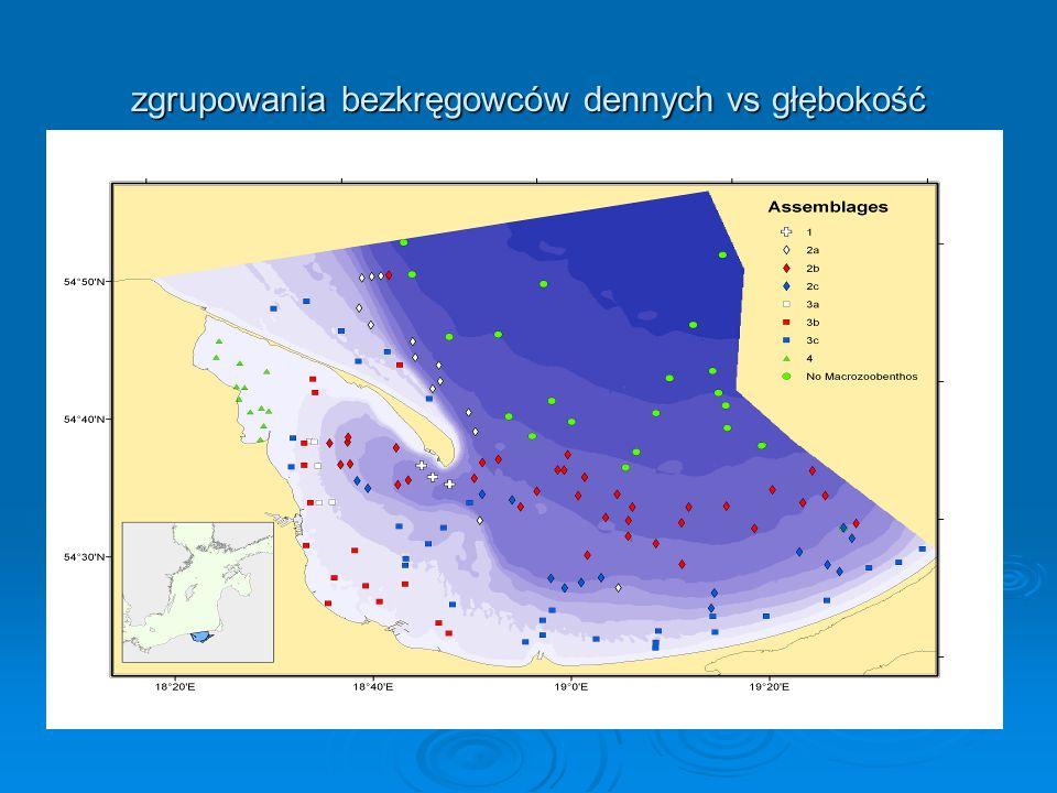 Główne czynniki strukturalne kształtujące Główne czynniki strukturalne kształtujące różnorodność biologiczną dna: różnorodność biologiczną dna: Naturalne: Naturalne: -różnorodność geologiczno- geomorfologiczna; -różnorodność geologiczno- geomorfologiczna; (systemy otwarte i zamknięte, ukształtowanie dna, (systemy otwarte i zamknięte, ukształtowanie dna, różnorodność osadów-ekotony) różnorodność osadów-ekotony) -warunki hydro-chemiczne (temperatura, zasolenie, tlen) -warunki hydro-chemiczne (temperatura, zasolenie, tlen) - występowanie roślinności dennej - występowanie roślinności dennej Antropogeniczne: - zakłócenia fizyczne (mechaniczne) dna - zakłócenia fizyczne (mechaniczne) dna - następstwa eutrofizacji - następstwa eutrofizacji - inwazje biologiczne - inwazje biologiczne