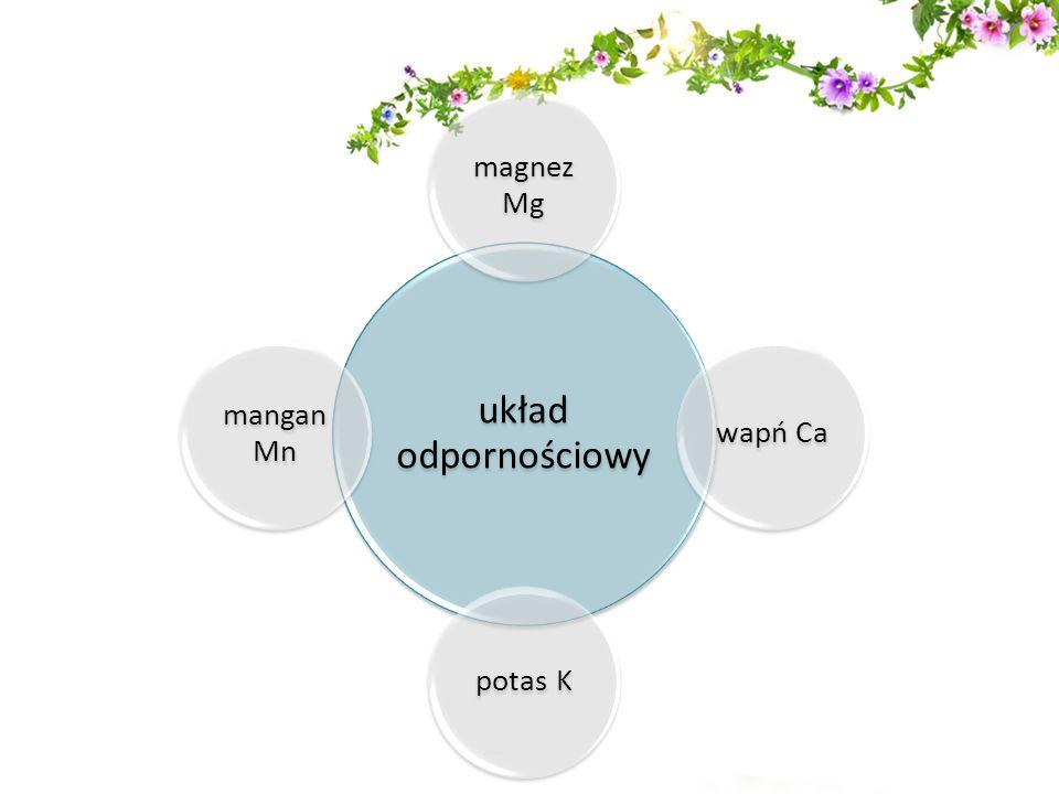 układ odpornościowy magnez Mg wapń Capotas K mangan Mn