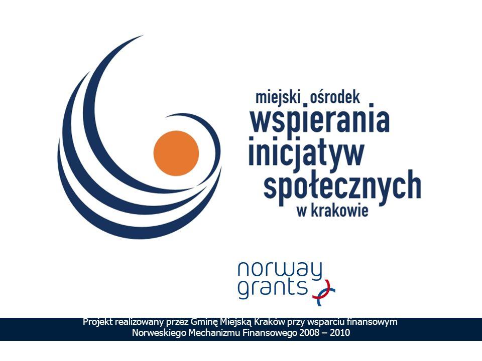Projekt realizowany przez Gminę Miejską Kraków przy wsparciu finansowym Norweskiego Mechanizmu Finansowego 2008 – 2010