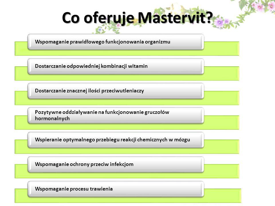 Na jakie główne funkcje organizmu człowieka oddziałują poszczególne składniki Mastervit.