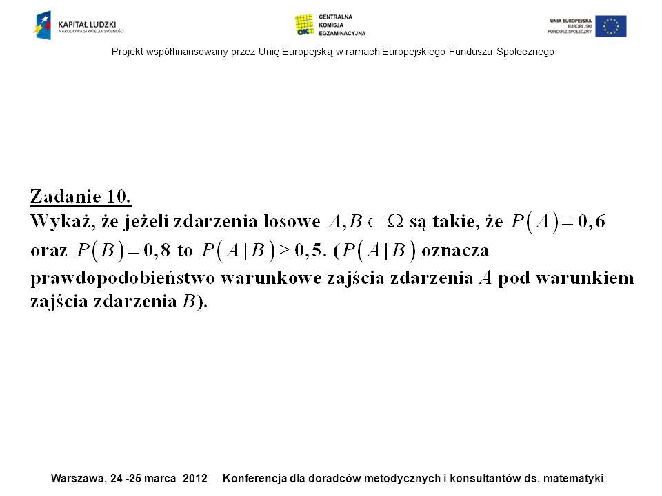 Projekt współfinansowany przez Unię Europejską w ramach Europejskiego Funduszu Społecznego Warszawa, 24 -25 marca 2012 Konferencja dla doradców metody