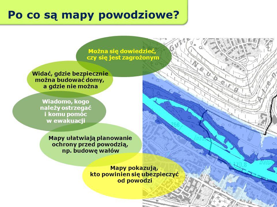 Można się dowiedzieć, czy się jest zagrożonym Widać, gdzie bezpiecznie można budować domy, a gdzie nie można Mapy ułatwiają planowanie ochrony przed p
