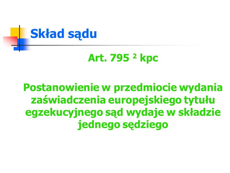 Wydanie zaświadczenia - projekt Art.1144 1 kpc Art.