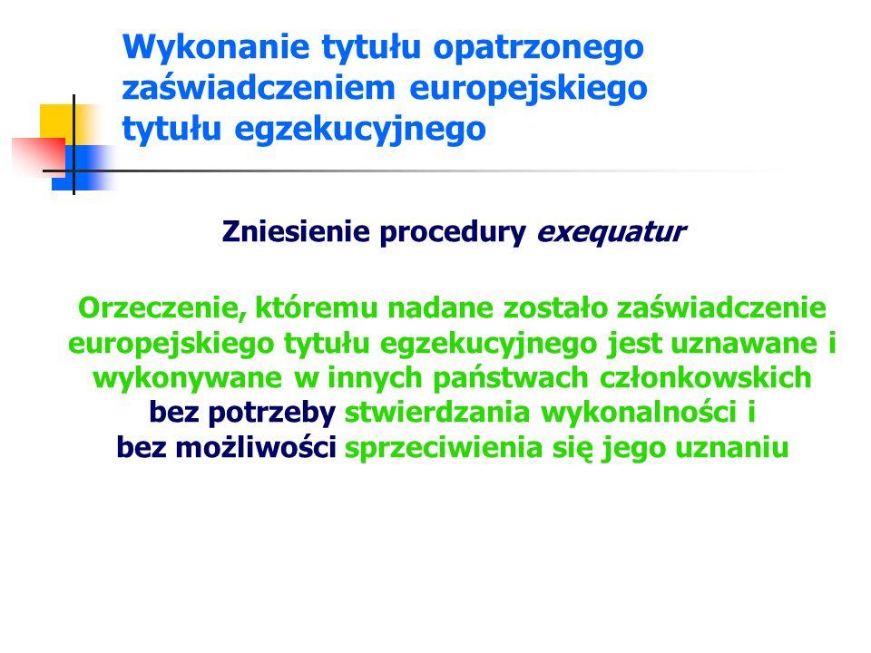 Wykonanie tytułu opatrzonego zaświadczeniem europejskiego tytułu egzekucyjnego - ustawa Art.