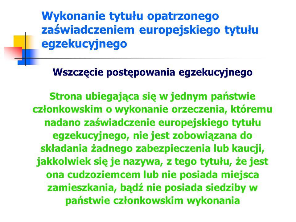 Wykonanie tytułu opatrzonego zaświadczeniem europejskiego tytułu egzekucyjnego Odmowa wykonania Na wniosek dłużnika, właściwy sąd w państwie wykonania odmawia wykonania, jeżeli orzeczenie, któremu nadano zaświadczenie europejskiego tytułu egzekucyjnego, nie da się pogodzić z wcześniejszym orzeczeniem wydanym w jakimkolwiek państwie członkowskim bądź w państwie trzecim, pod warunkiem że: wcześniejsze orzeczenie zostało wydane w odniesieniu do tego samego przedmiotu sporu i dotyczyło tych samych stron i wcześniejsze orzeczenie zostało wydane w państwie członkowskim wykonania lub spełnia warunki konieczne dla jego uznania w państwie członkowskim wykonania i niemożność pogodzenia orzeczeń nie była i nie mogła być podniesiona w formie zarzutu w postępowaniu sądowym w państwie członkowskim wydania