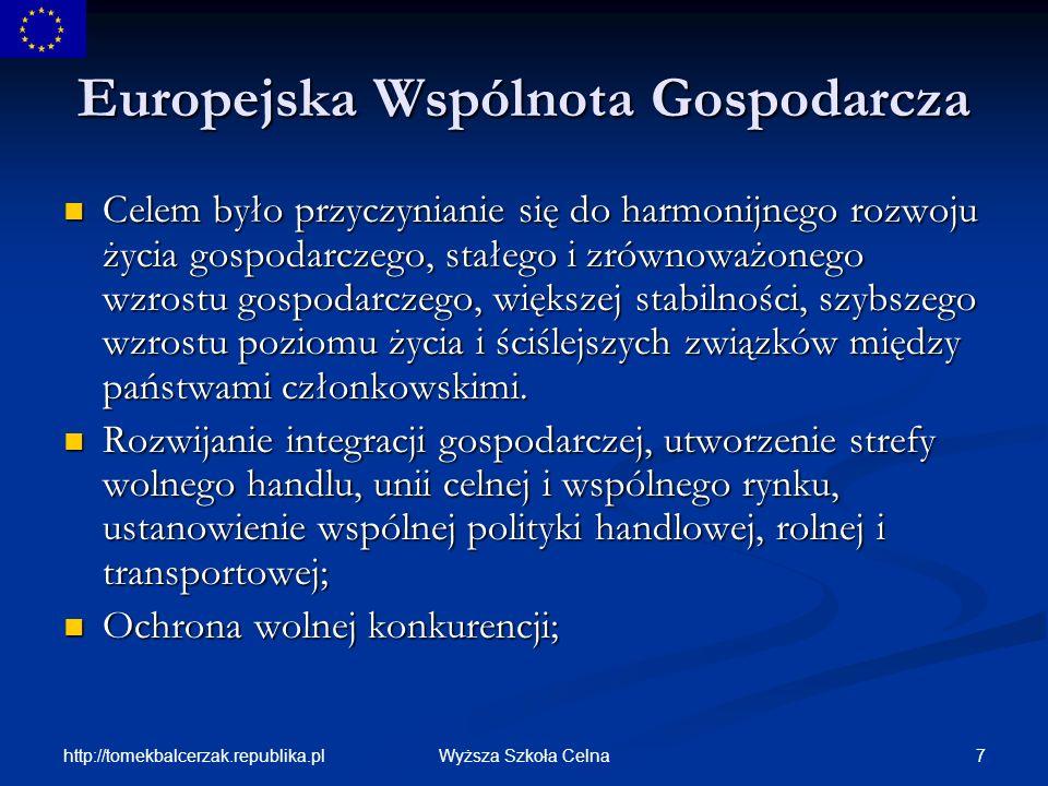 http://tomekbalcerzak.republika.pl 58Wyższa Szkoła Celna Członkostwo Polski w UE W II etapie zostają opracowane stanowiska negocjacyjne.