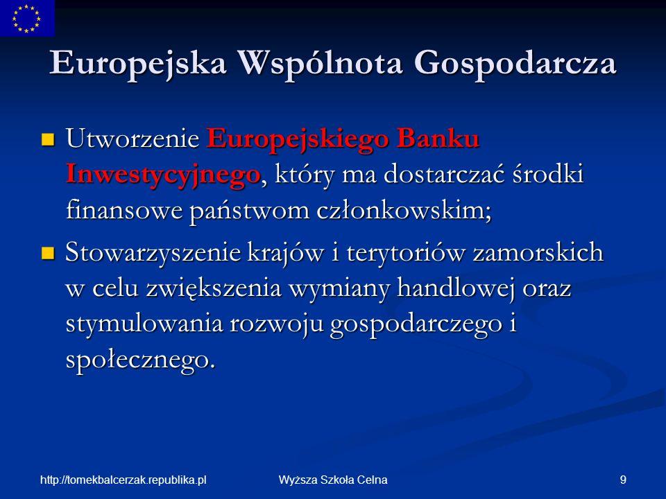 http://tomekbalcerzak.republika.pl 70Wyższa Szkoła Celna Młodzież Przyszłość Europy zależy od młodych.