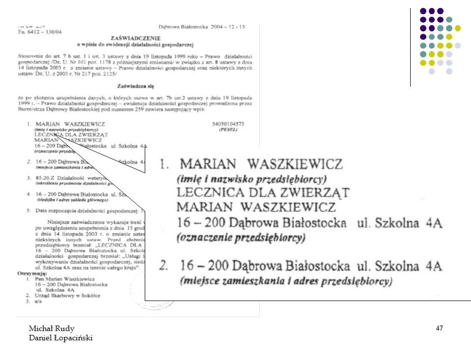 Michał Rudy Daniel Łopaciński 47