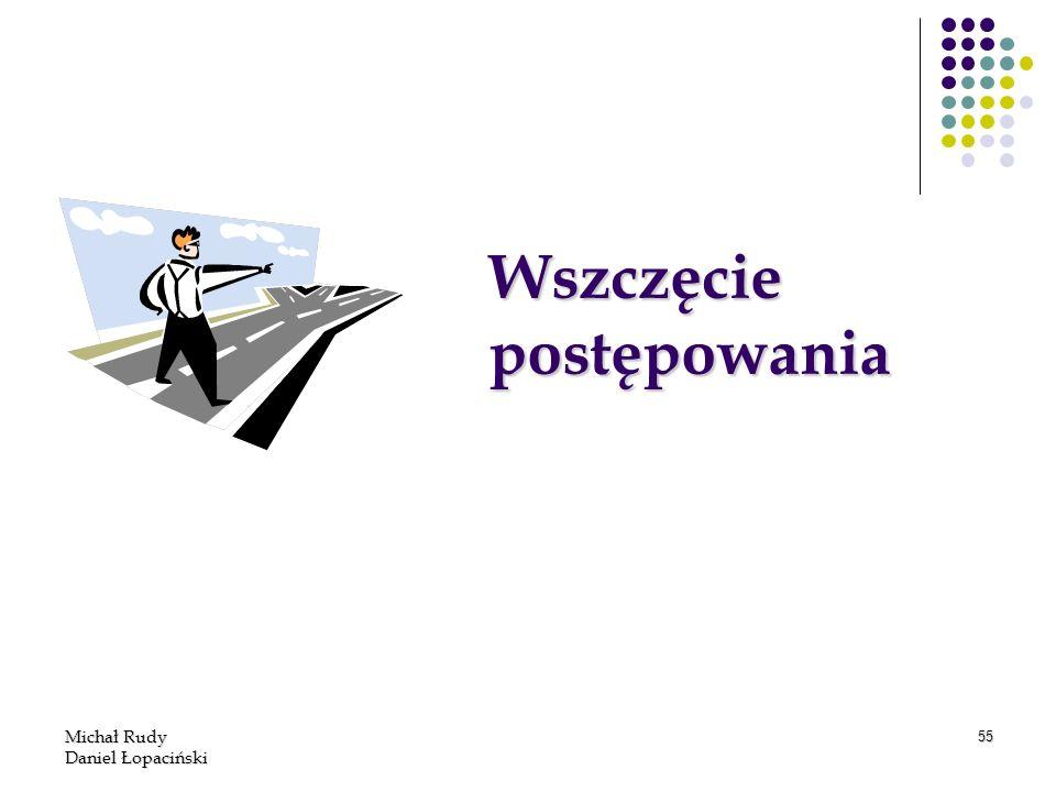Michał Rudy Daniel Łopaciński 55 Wszczęcie postępowania