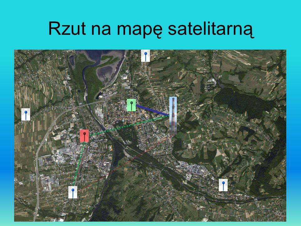 Rzut na mapę satelitarną