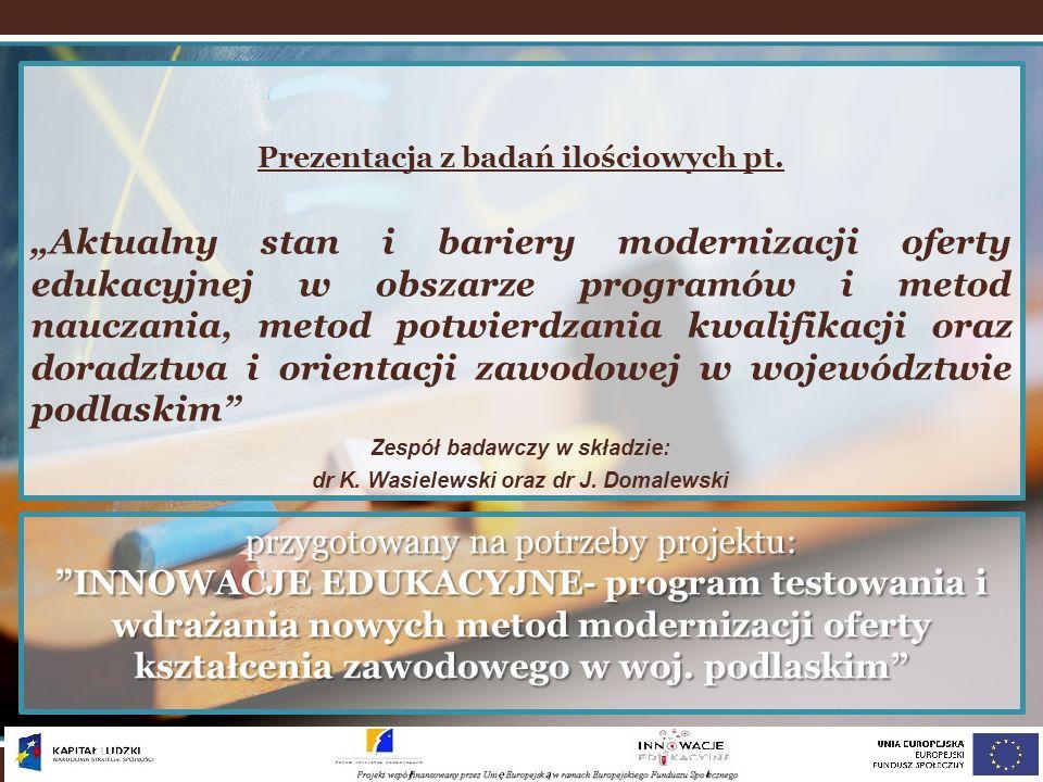 przygotowany na potrzeby projektu: INNOWACJE EDUKACYJNE- program testowania i wdrażania nowych metod modernizacji oferty kształcenia zawodowego w woj.