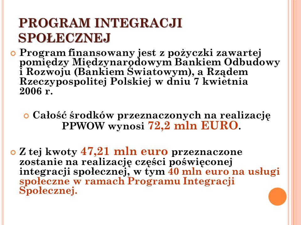Program finansowany jest z pożyczki zawartej pomiędzy Międzynarodowym Bankiem Odbudowy i Rozwoju (Bankiem Światowym), a Rządem Rzeczypospolitej Polskiej w dniu 7 kwietnia 2006 r.