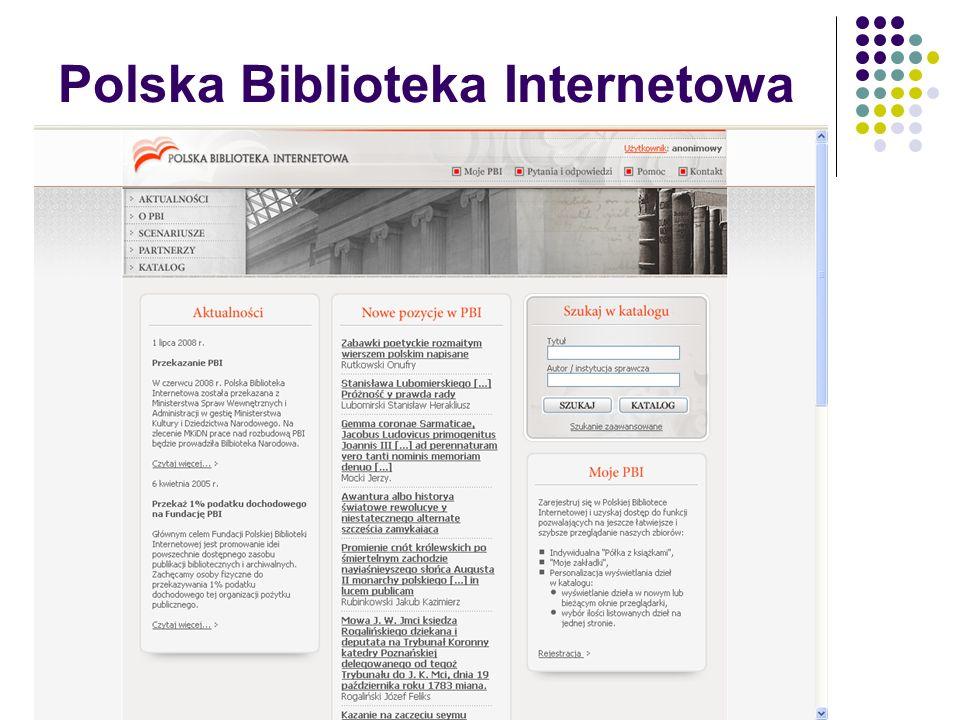 Polska Biblioteka Internetowa – prezentacja dokumentu