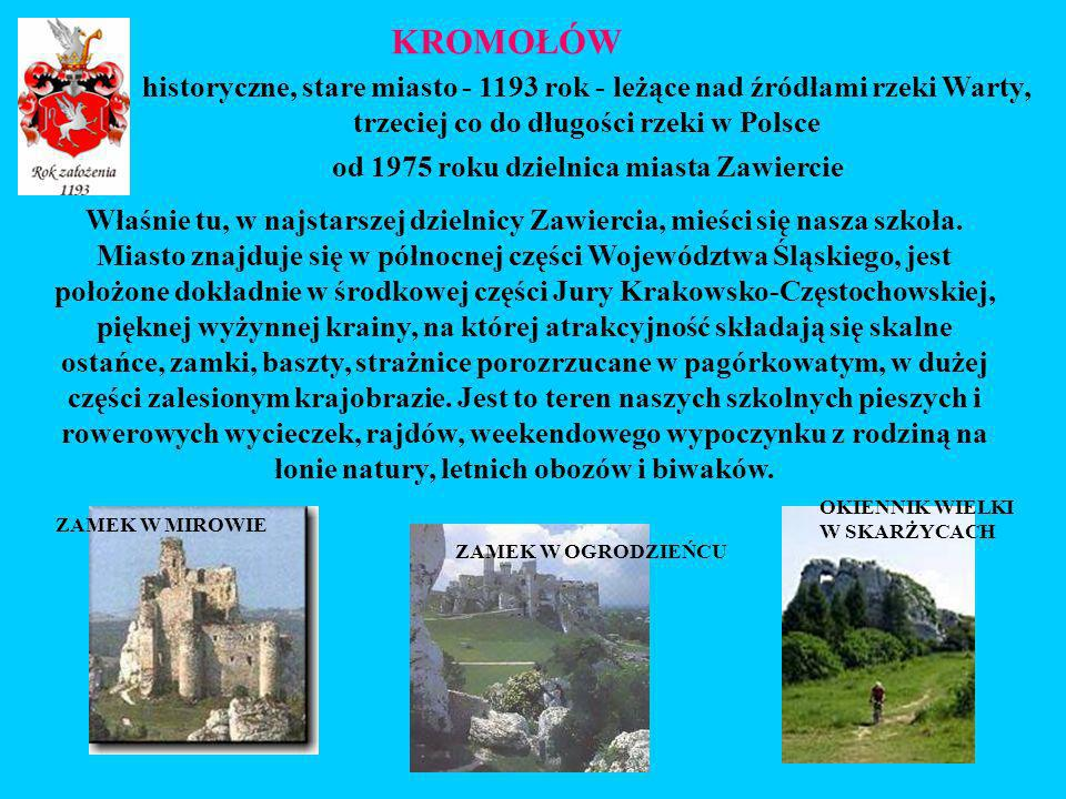 Właśnie tu, w najstarszej dzielnicy Zawiercia, mieści się nasza szkoła. Miasto znajduje się w północnej części Województwa Śląskiego, jest położone do