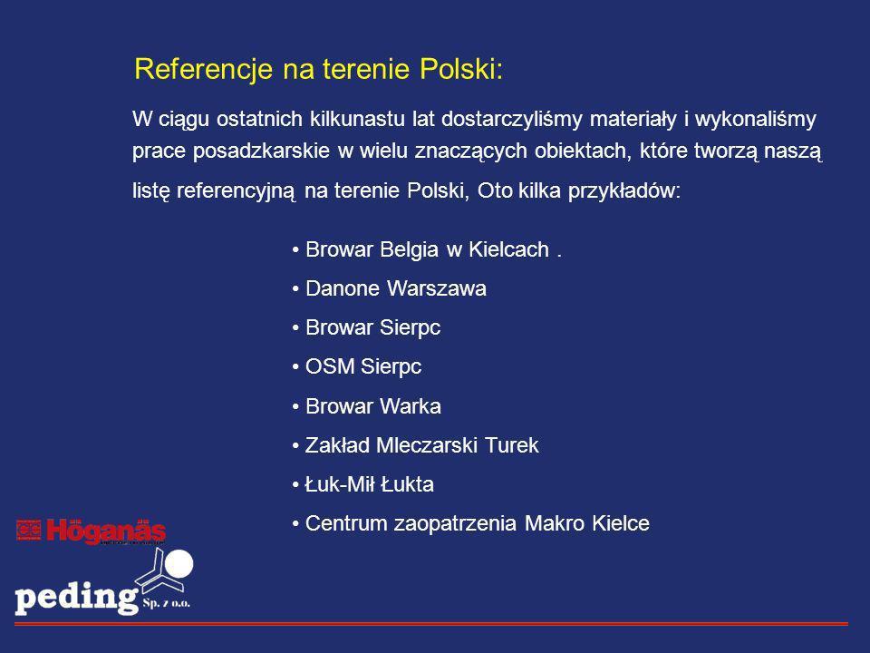 Referencje na terenie Polski: W ciągu ostatnich kilkunastu lat dostarczyliśmy materiały i wykonaliśmy prace posadzkarskie w wielu znaczących obiektach