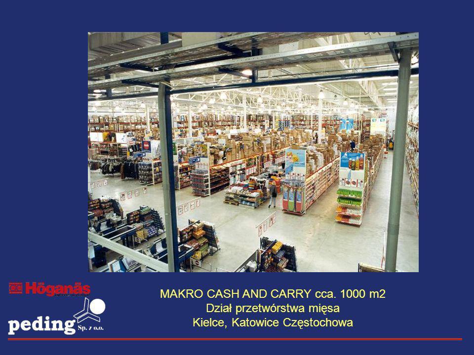 MAKRO CASH AND CARRY cca. 1000 m2 Dział przetwórstwa mięsa Kielce, Katowice Częstochowa