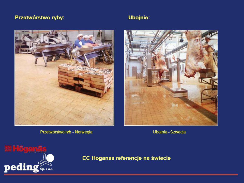 Przetwórstwo ryby:Ubojnie: Ubojnia - SzwecjaPrzetwórstwo ryb - Norwegia CC Hoganas referencje na świecie