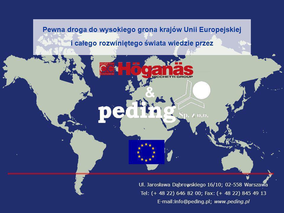 Ul. Jarosława Dąbrowskiego 16/10; 02-558 Warszawa Tel: (+ 48 22) 646 82 00; Fax: (+ 48 22) 845 49 13 E-mail:info@peding.pl; www.peding.pl Pewna droga