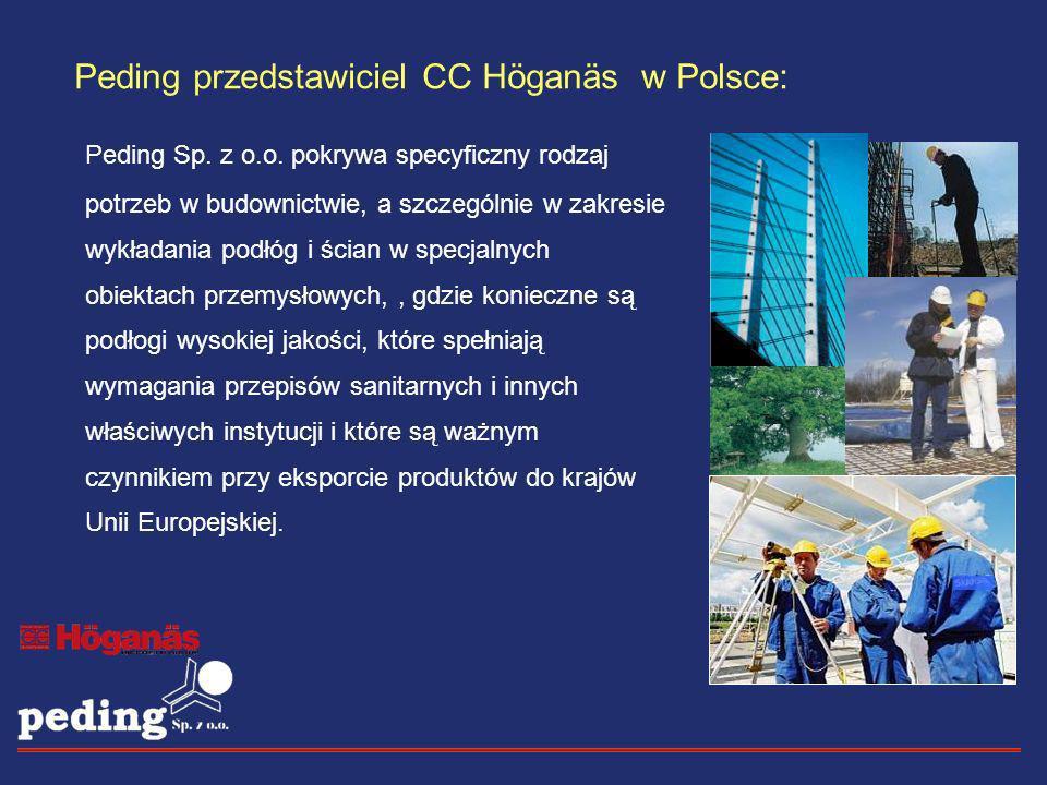 Peding Sp. z o.o. pokrywa specyficzny rodzaj potrzeb w budownictwie, a szczególnie w zakresie wykładania podłóg i ścian w specjalnych obiektach przemy
