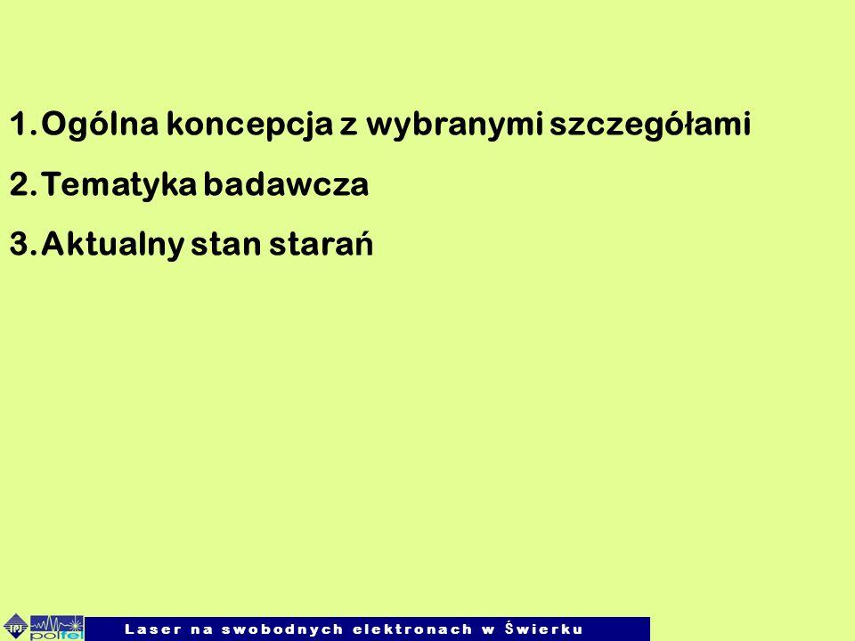 Robert Nietubyć, IFPAN 21.04.2009 L a s e r n a s w o b o d n y c h e l e k t r o n a c h w Ś w i e r k u Spektroskopia