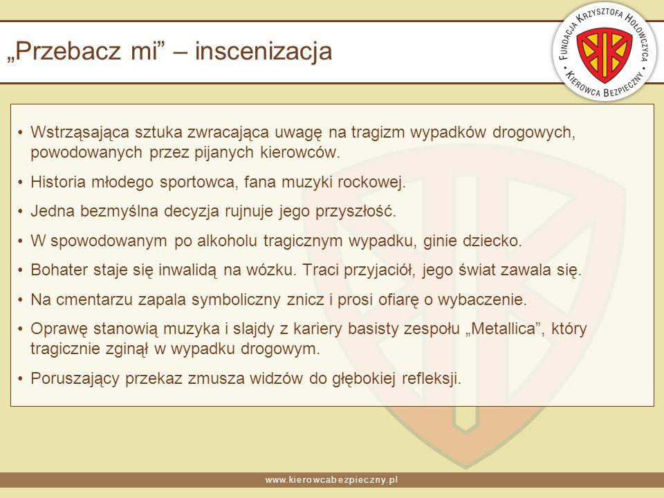 www.kierowcabezpieczny.pl Przebacz mi – inscenizacja