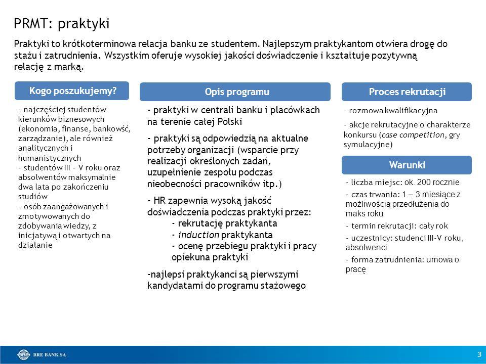 - praktyki w centrali banku i placówkach na terenie całej Polski - praktyki są odpowiedzią na aktualne potrzeby organizacji (wsparcie przy realizacji
