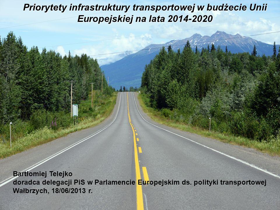 Priorytety infrastruktury transportowej w budżecie Unii Europejskiej na lata 2014-2020 Bartłomiej Telejko doradca delegacji PiS w Parlamencie Europejs
