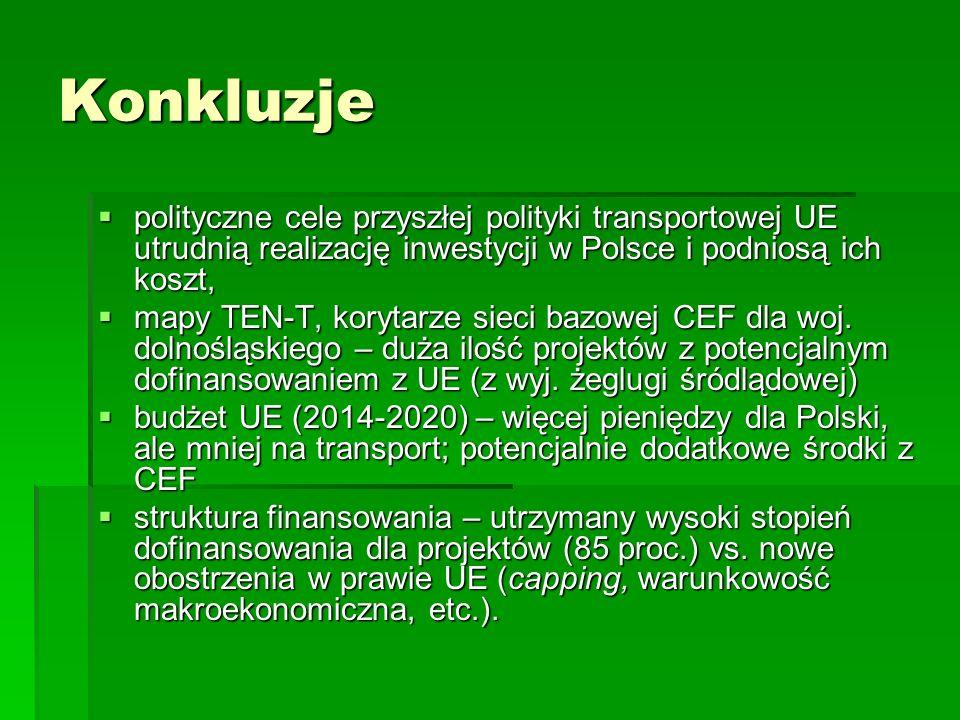 Konkluzje polityczne cele przyszłej polityki transportowej UE utrudnią realizację inwestycji w Polsce i podniosą ich koszt, polityczne cele przyszłej