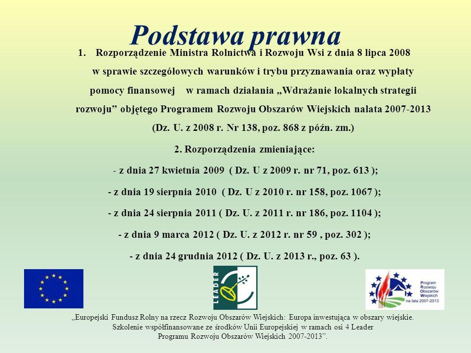 Poziom dofinansowania Koszty pracy oraz usług świadczonych nieodpłatnie oblicza się według wzoru: X = A x H 168 X – wartość pracy oraz usług świadczonych nieodpłatnie – 20,24 PLN / 1 godzina A – przeciętne wynagrodzenie w gospodarce narodowej w drugim roku poprzedzającym rok, w którym złożono wniosek o przyznanie pomocy na mały projekt ( rok 2011 – 3399,52 PLN ) H – liczba przepracowanych godzin Europejski Fundusz Rolny na rzecz Rozwoju Obszarów Wiejskich: Europa inwestująca w obszary wiejskie.