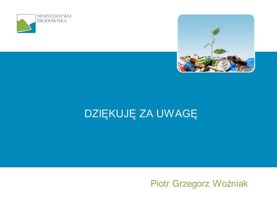 DZIĘKUJĘ ZA UWAGĘ Piotr Grzegorz Woźniak
