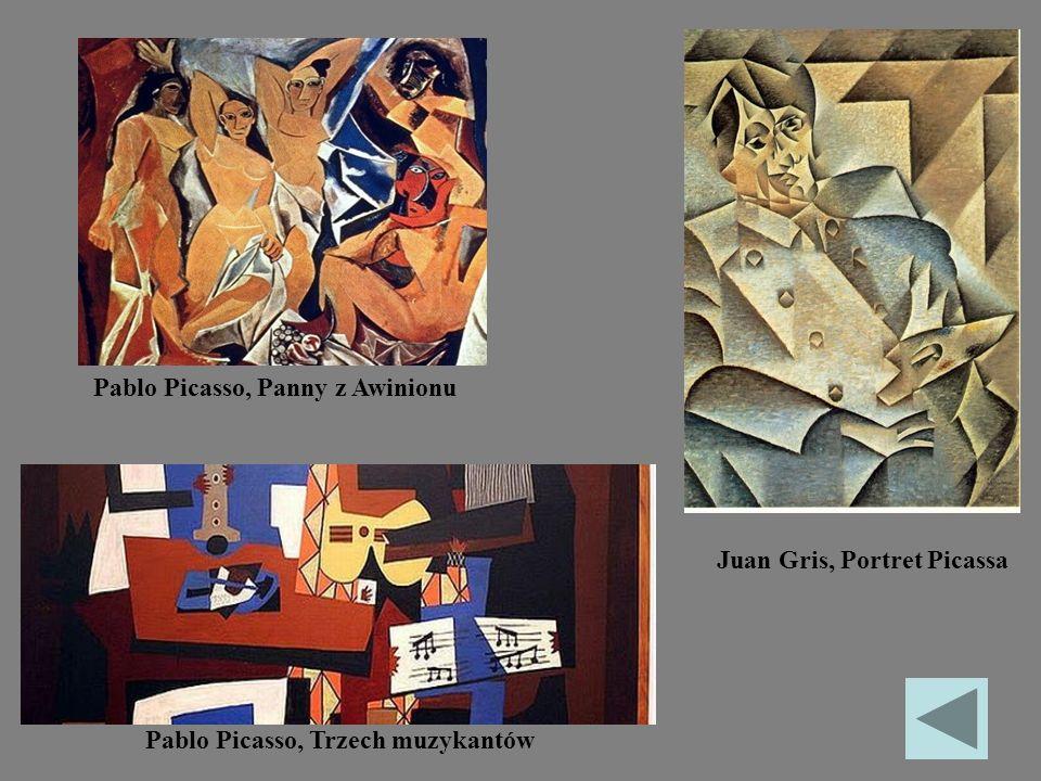 Pablo Picasso, Trzech muzykantów Pablo Picasso, Panny z Awinionu Juan Gris, Portret Picassa