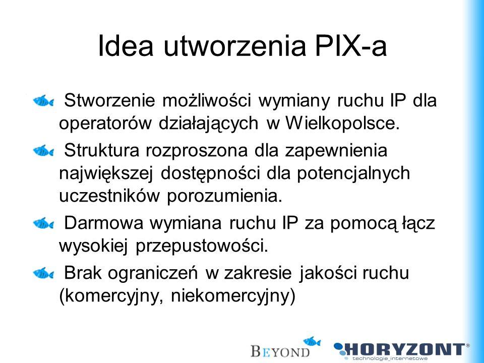 Stworzenie możliwości wymiany ruchu IP dla operatorów działających w Wielkopolsce. Struktura rozproszona dla zapewnienia największej dostępności dla p