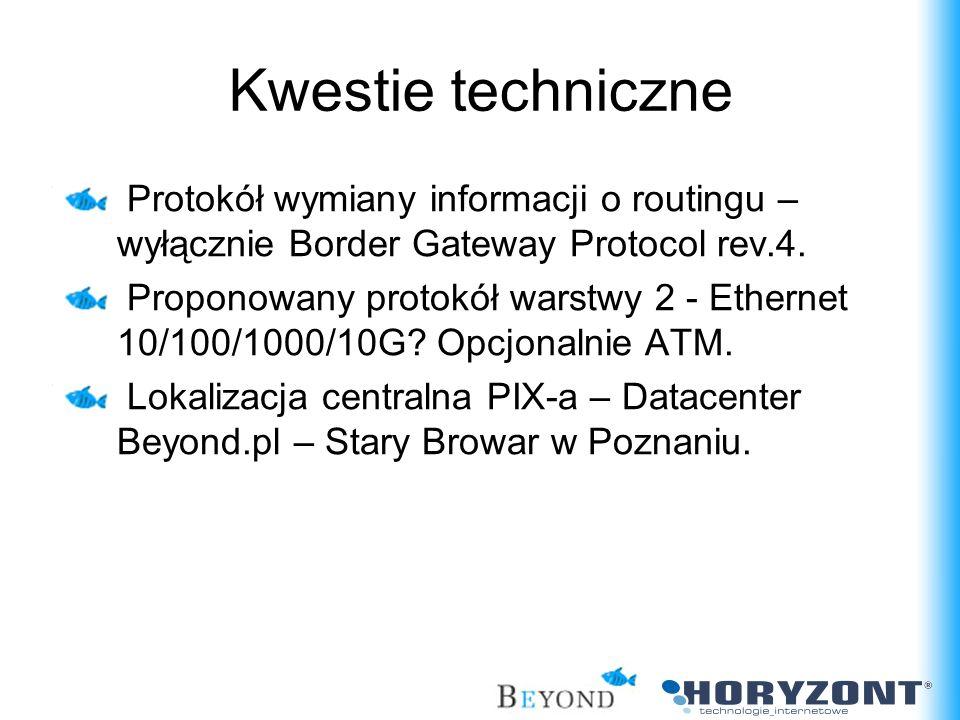 Protokół wymiany informacji o routingu – wyłącznie Border Gateway Protocol rev.4. Proponowany protokół warstwy 2 - Ethernet 10/100/1000/10G? Opcjonaln