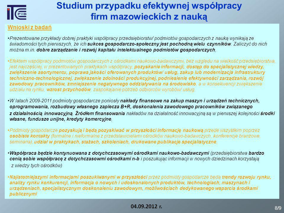 Rekomendacje z badań 04.09.2012 r.