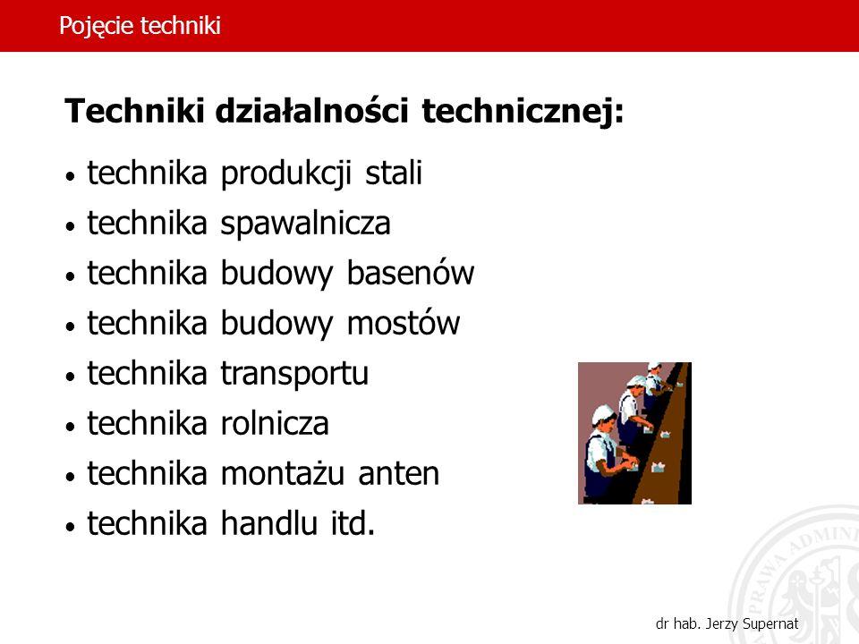 5 Techniki działalności technicznej: technika produkcji stali technika spawalnicza technika budowy basenów technika budowy mostów technika transportu