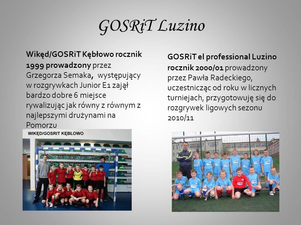 GOSRiT Luzino GOSRiT Luzino rocznik 2002/03 drużyna prowadzona przez Tomasza Myszewskiego poprzez zabawy ruchowe poznaje świat sportu.