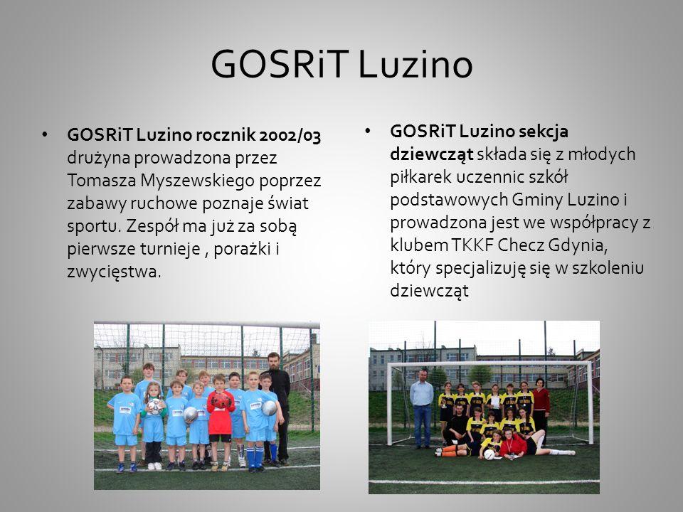 GKS LuzinoUKS Kaszub Luzino GKS Luzino sekcja piłka nożna prowadzona przez trenera Sylwestra Piątka na co dzień występuję w rozgrywkach Junior A.
