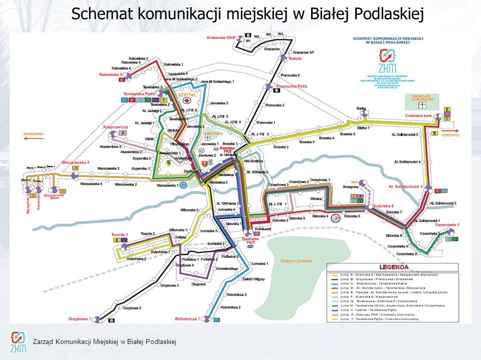 Charakterystyka linii komunikacyjnych zarządzanych przez ZKM (1/2) ZKM zarządza 11 liniami autobusowymi z czego: - 9 linii kursuje w dni robocze - 11 linii kursuje w soboty - 11 linii kursuje w niedziele i święta Częstotliwość kursowania linii komunikacyjnych: - w dzień roboczy (2 wozy/godz.