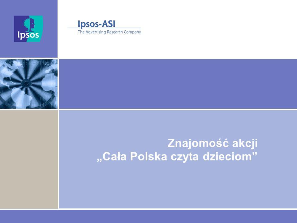 Znajomość akcji Cała Polska czyta dzieciom