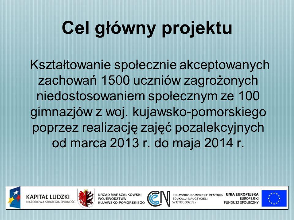 Kadra zarządzająca projektu Koordynator projektu Wiesława Tomasiak - Wyszyńska wieslawa.tomasiak-wyszynska@cen.bydgoszcz.pl Tel.