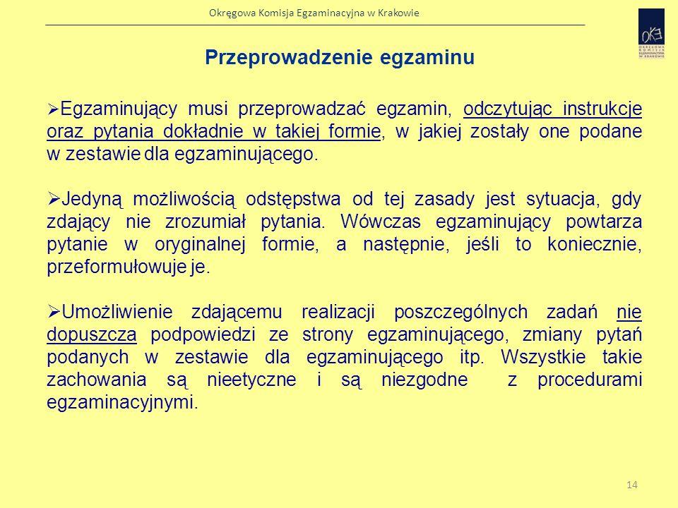 Okręgowa Komisja Egzaminacyjna w Krakowie Karta oceny wypowiedzi 15