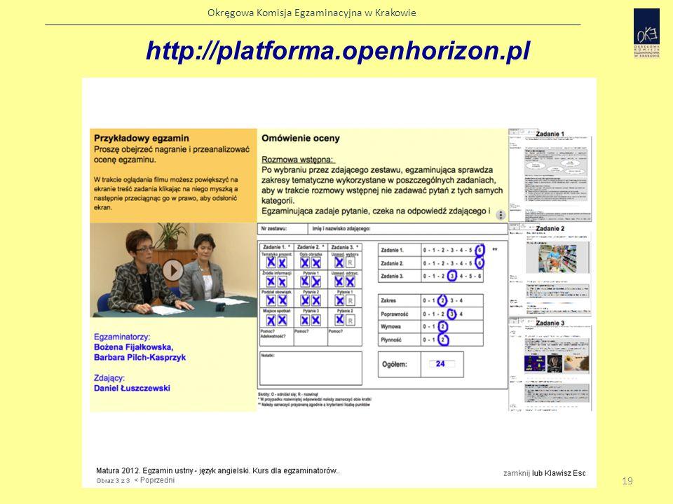 Okręgowa Komisja Egzaminacyjna w Krakowie Zestawy dla absolwentów do roku 2011 Absolwenci, którzy podwyższają wyniki egzaminu lub nie zdali egzaminu w sesjach poprzednich, zdają egzamin na zasadach obowiązujących do roku szkolnego 2010/11.