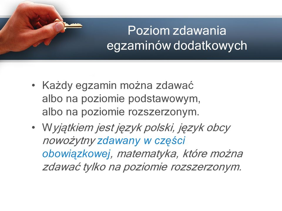 28 Przybory pomocnicze Zdający w trakcie części pisemnej egzaminu może korzystać z materiałów i przyborów pomocniczych, których wykaz ogłasza dyrektor CKE dwa miesiące przed terminem części pisemnej egzaminu na stronie www.cke.edu.pl.