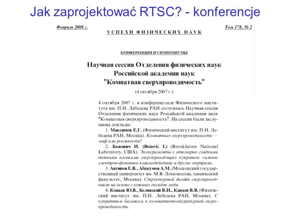 Jak zaprojektować RTSC? - konferencje