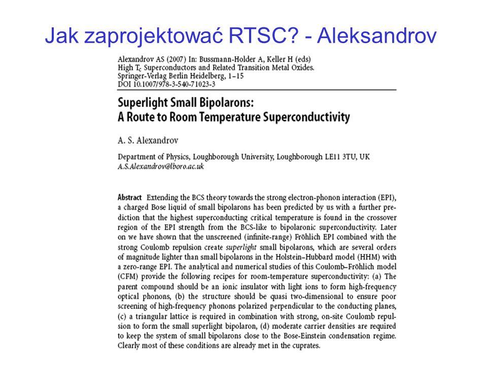 Jak zaprojektować RTSC? - Aleksandrov