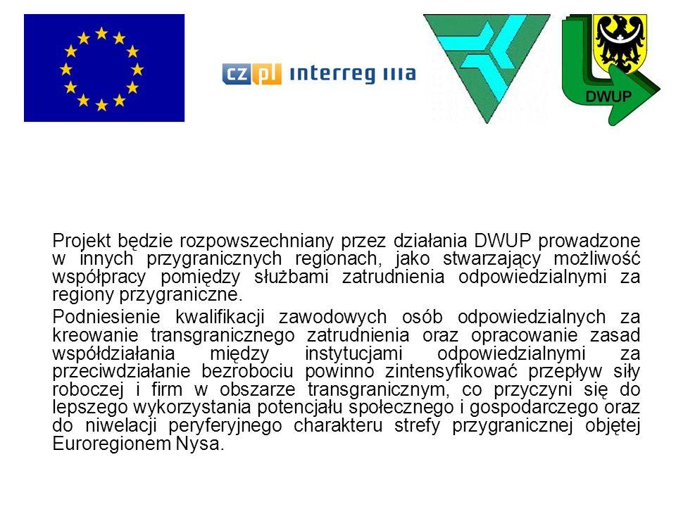 Projekt będzie rozpowszechniany przez działania DWUP prowadzone w innych przygranicznych regionach, jako stwarzający możliwość współpracy pomiędzy słu