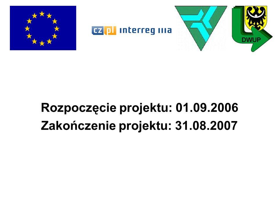 Rozpoczęcie projektu: 01.09.2006 Zakończenie projektu: 31.08.2007